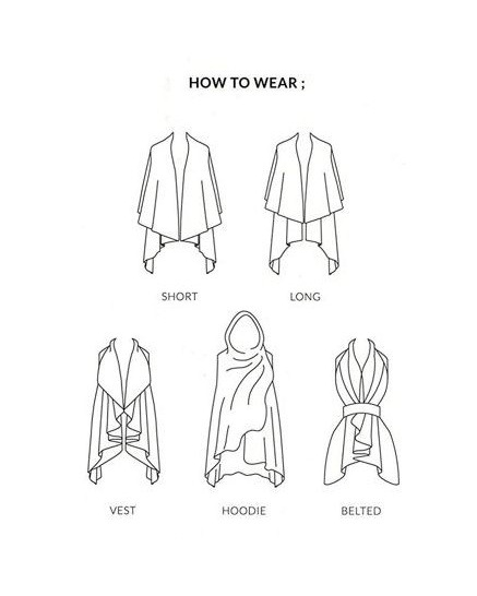 Ways to wear the convertible shawl vest!